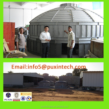 cast by steel mould dry anaerobic fermentation container Biogas Digester