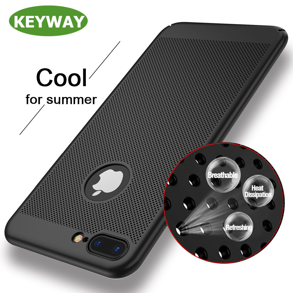 New Trend 2017 Heat Dissipation Design PC Case Anti-Scratch Anti-fingerprint Shockproof Slim Phone Case for <strong>iPhone</strong> 7 Plus