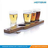 Wooden Shot Glass Paddle Display Stand