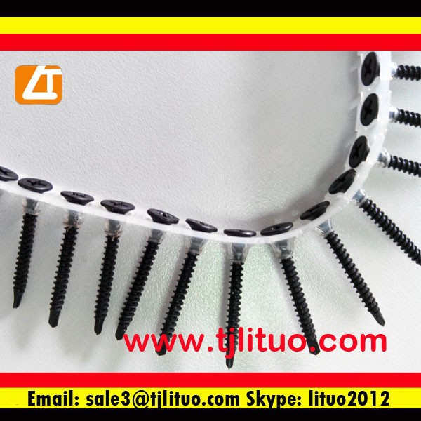 gypsum board used plastic strip collated screws