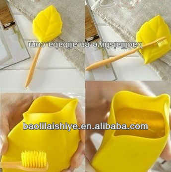 Multifunction silicon rubber products as toothbrush cover and water cup