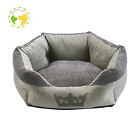 Linen Fabric Warm And Flat Indoor Dog Sofa Pet Bed