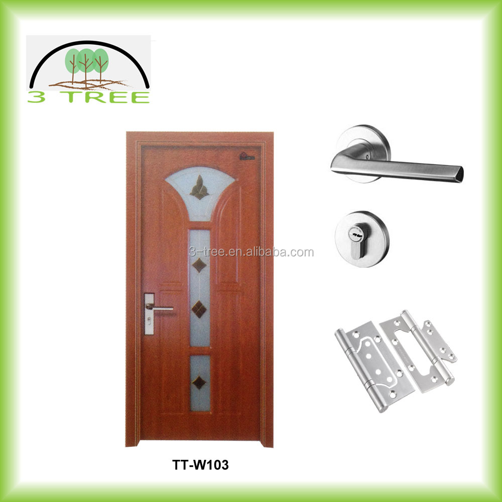Internal MDF flush hospital door with glass insert