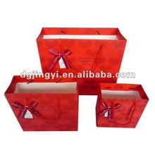 Fashion cotton shopping bag/paper bags with handles wholesale in China