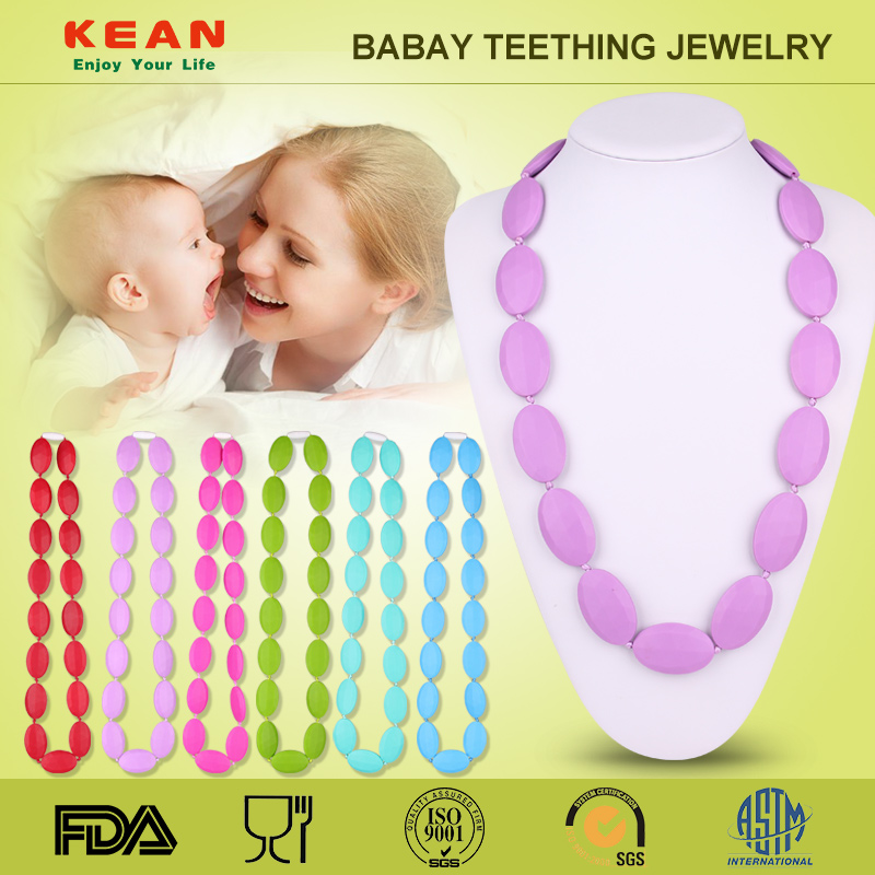 Silicone titanium pain relief sports necklace