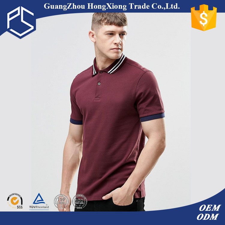 Factory Low Price Custom Cotton Red Plain Polo Shirt Made In Vietnam