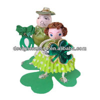 Vintage Style St Patricks Day Item Irish Father and Daughter