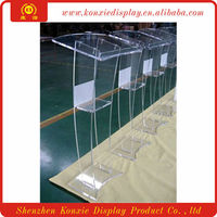 Modern acrylic lectern podium pulpit,clear acrylic lectern stand