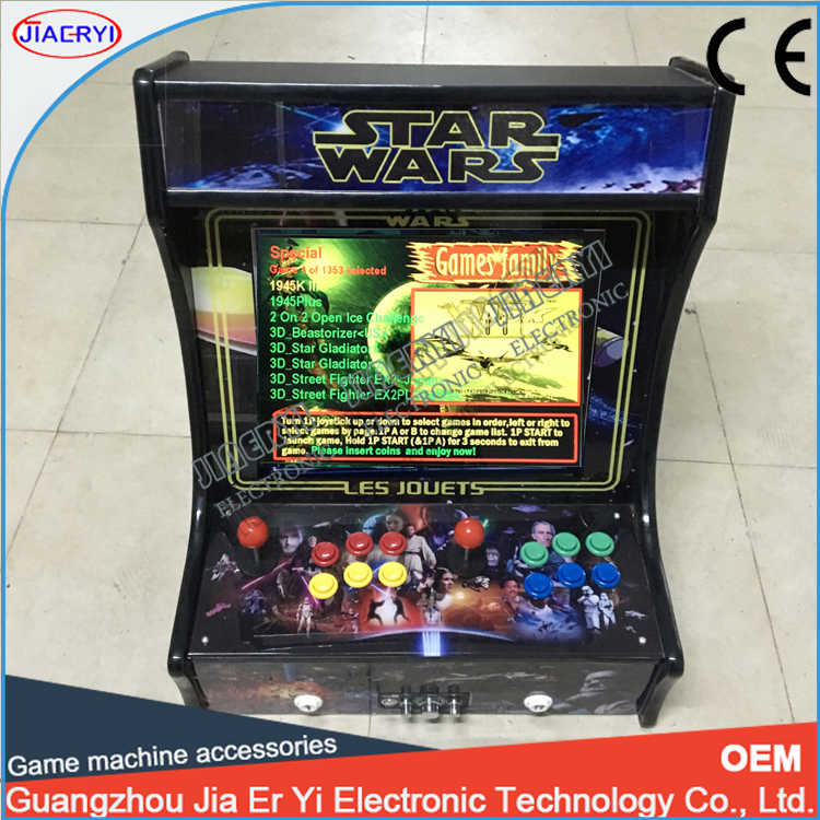 2017 hot sale bartop arcade game machine with 2100 in 1 games