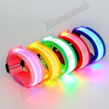 trending lighted adjustable reflective silicone wristband for running