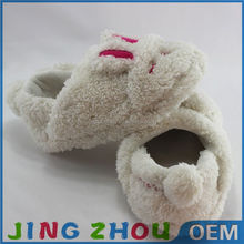 Wholesale Cute Closed Toe Colorful rabbit Shaped Plush Slipper Shoes For Kids