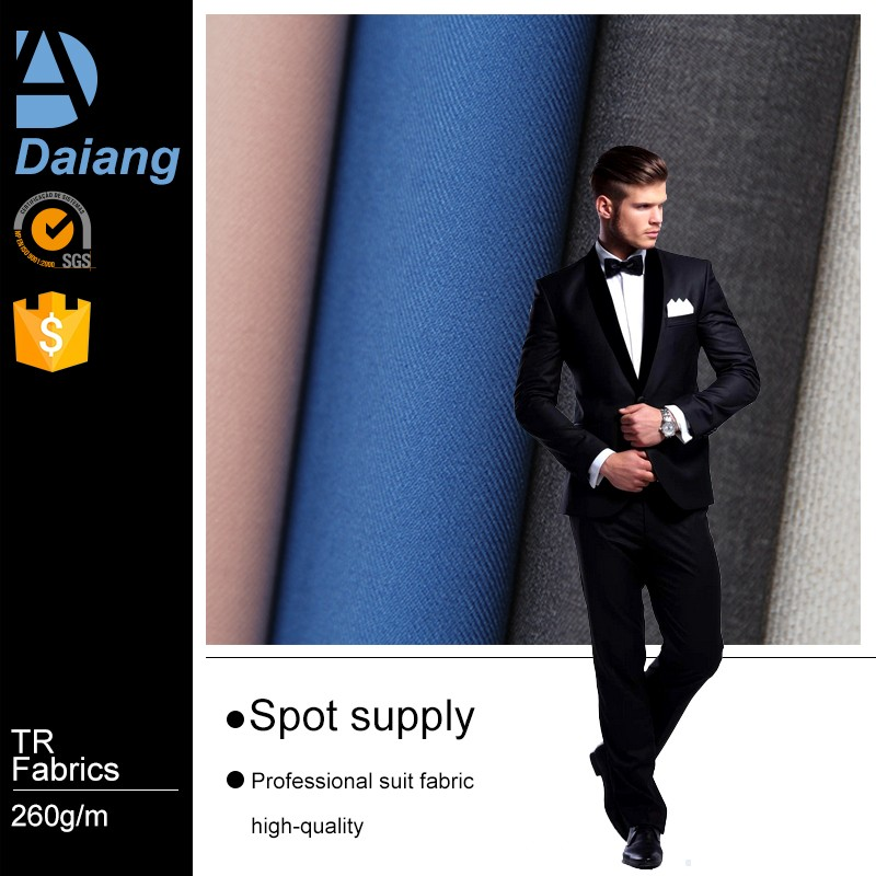 wholesale polyester rayon twill mens tr suiting fabric