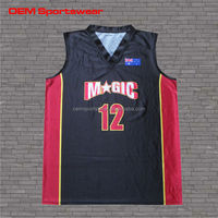 Professional custom sublimation basketball jersey