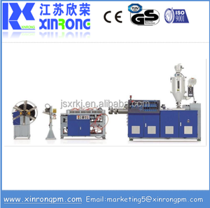 Pipe production line PE PP PVC single wall corrugated pipe extrusion machine