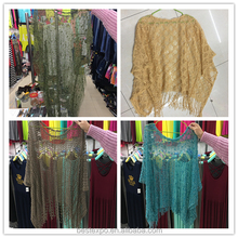 wholesale summer beach pcoat hollow-out womens lace blouses in embroidery crochet short sleeve boutique clothing