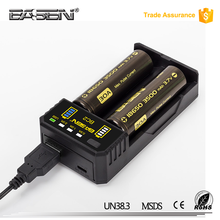 18650 battery charger for 18650 14500 18500 26650 16340 Basen BC2