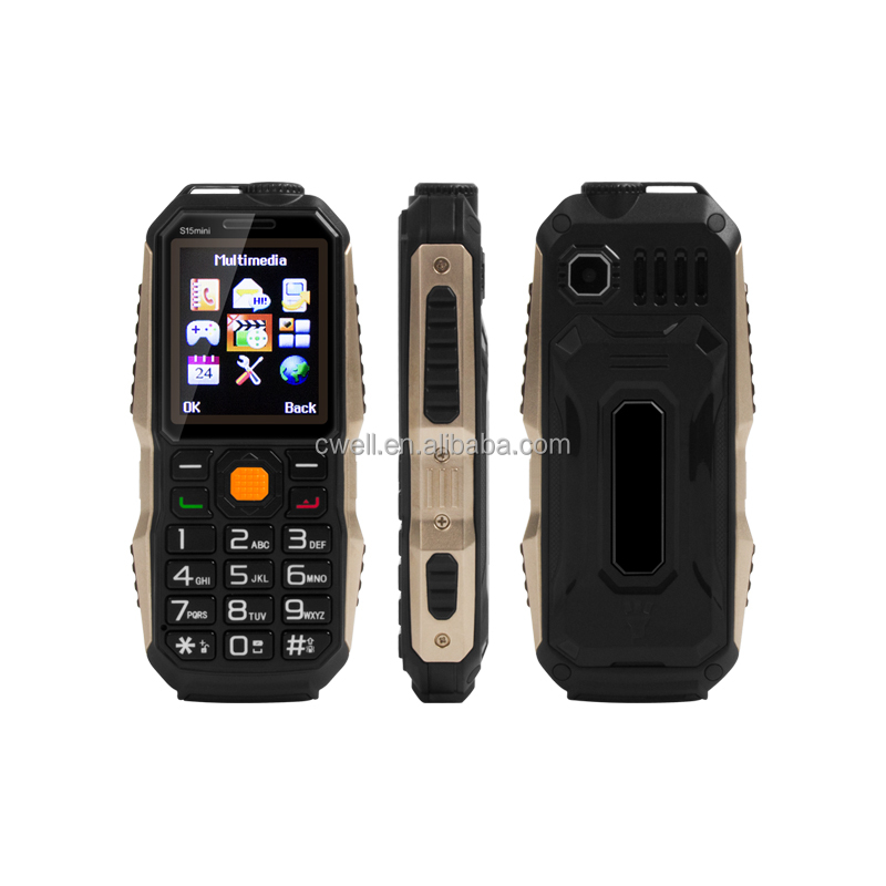 OEM S15 Mini 1.77 inch Dual SIM Card 1200mAh Power Bank Function Low Price China Mobile Phone High Quality Cheap Rugged Phone