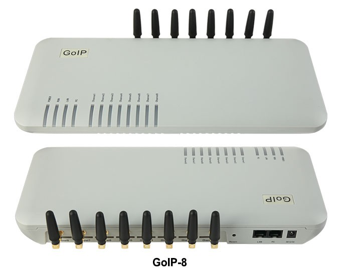 VOIP Gateway with 8 ports GOIP8