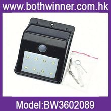 solar power motion sensor security lamp H0T115, outdoor solar motion sensor rechargeable wall light