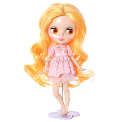 Top selling loose wavy bright yellow blythe doll wig with good feedback