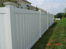 Fencemaster cheap white vinyl full privacy fence/ pvc farm fence/ paineis de vedacao em pvc