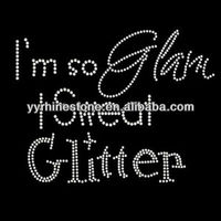 I'm so glam I sweat glitter rhinestone hotfix designs for shirts