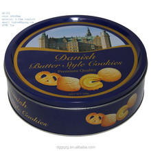 round chocolate tin cans, Printed biscuit tins,customized biscuit metal tin