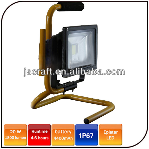 Warranty 2 Years Work Light Epistar 20W Emergency Led Rechargeable Flood Light For Indoor and Outdoor Activities
