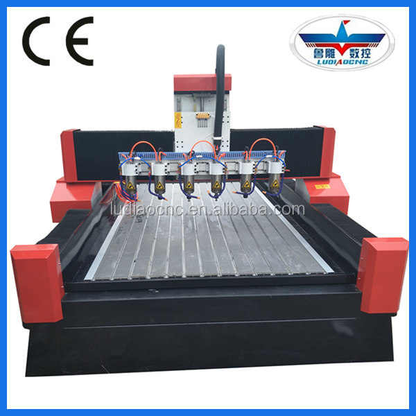 Stable economical relief cnc engraver cnc router machine price with multi heads 1325-1-6 for wood mdf stone marble carving