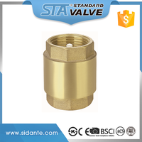 ART.4001 Durable forged 1'' size DN25 female inlet & outlet brass vertical lift check valve for tap water, air, oil and gas