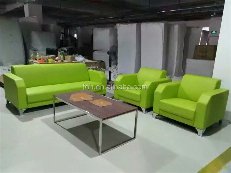 high end restaurant furniture 1+1+3 green sofa set FOH-CK65