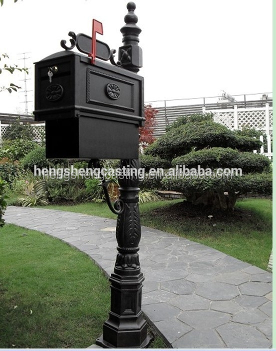 Alibaba China metal mailbox antique aluminum mailbox for sale