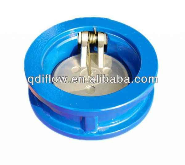Water swing valve single plate CI body SS disc