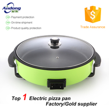 electric kitchen round pizza pan with pancake maker 7cm depth GS certificate