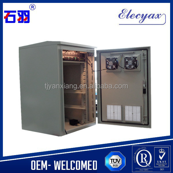 Low price constant temperature cabinet with battery rack/SK-220/outdoor fan enclosure for battery storage/small battery shelter