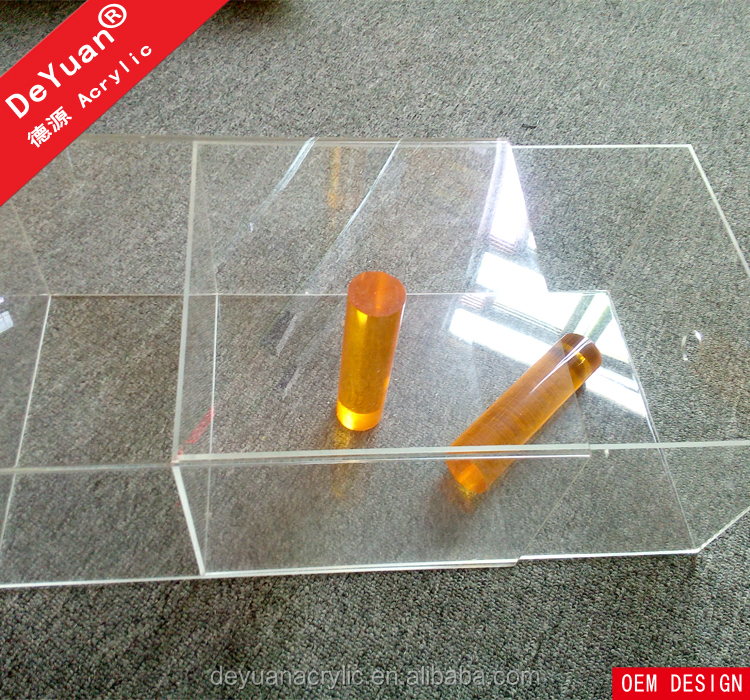 Plastic clear shoe box display custom with drop front