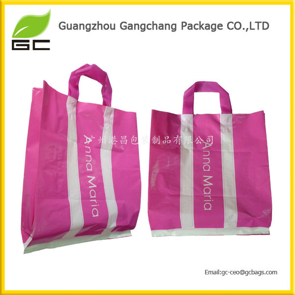 fashion style plastic distributor tote bag for shopping