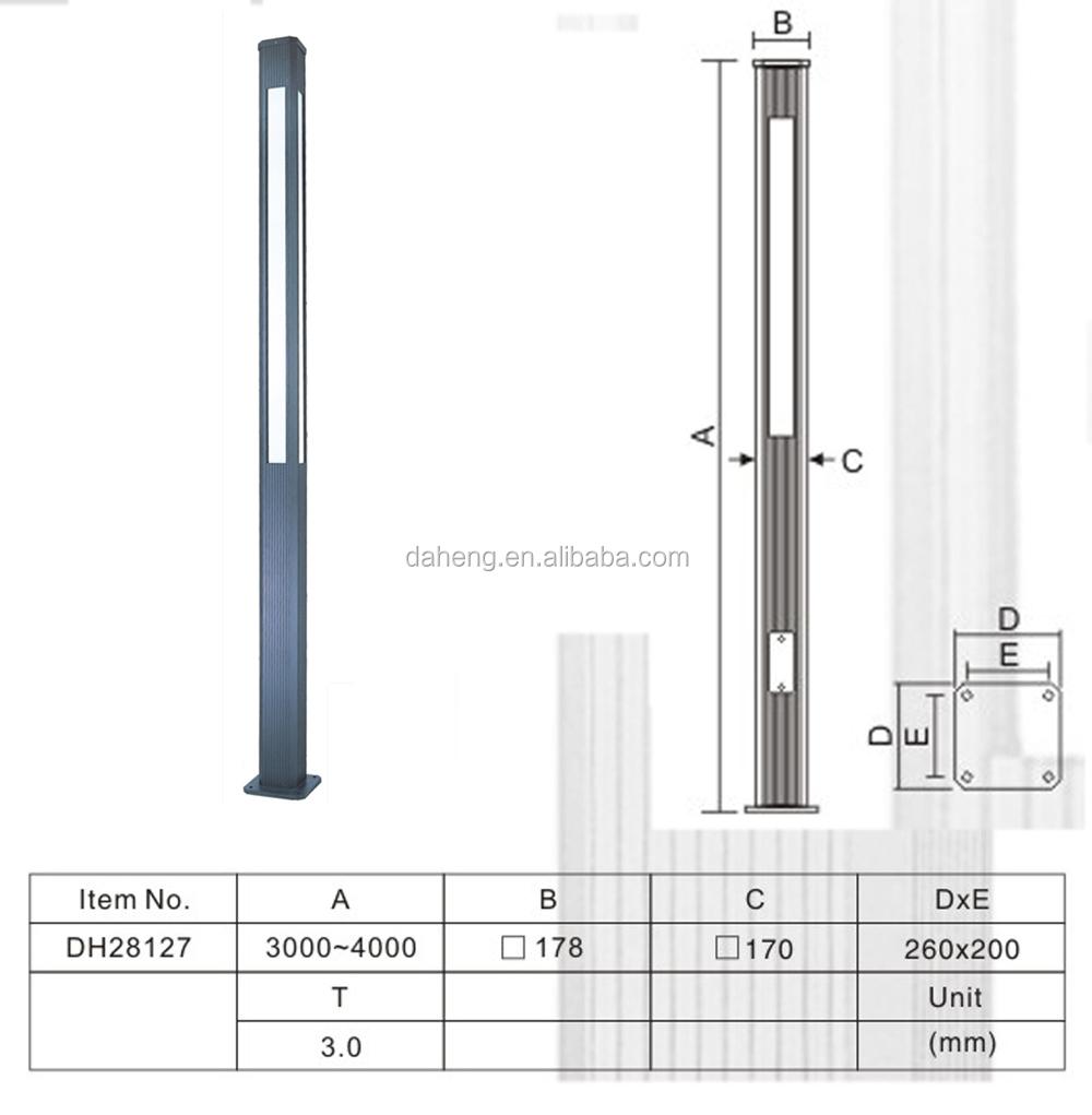 3 4m Aluminum Modern Outdoor Led Garden Pole Light Buy