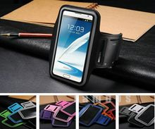 Mobile Phone Arm Case Sports Running Armband Pouch Cover for Samsung Galaxy Note 2