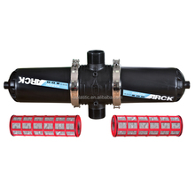 "Agricultural Drip 4"" Manual Filter Machine 120(150)Mesh 70m3/H Red Irrigation Disc Filter"