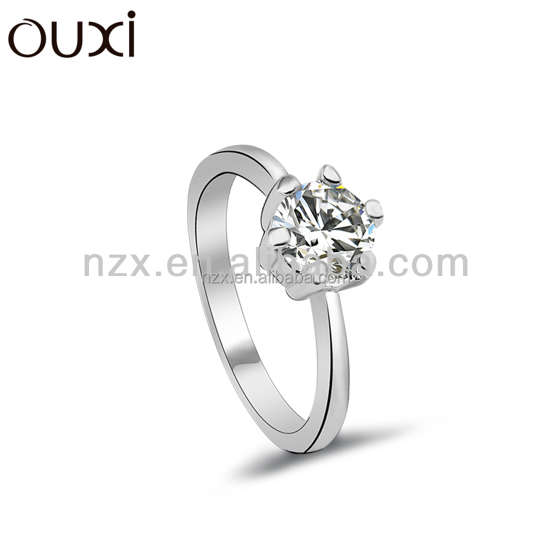 OUXI 2015 fashion trendy women jewelry zinc ally cubic zircon ring 40101