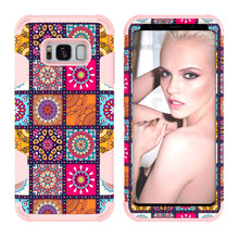 OEM 3D Sublimation Colorful Water Decal Flower Phone Case For Samsung S8 Bumper PC Silicone Back Cover