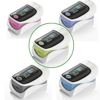 BJ-250 Instant Read Digital Pulse Oximeter with Alarm Setting, Color OLED Display and Carry Case