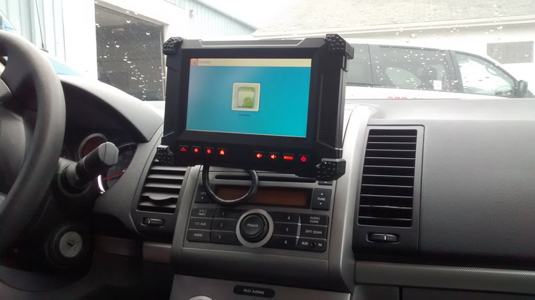 7 inch professional GPS mobile data terminal for vehicle truck bus tracking dispatch system