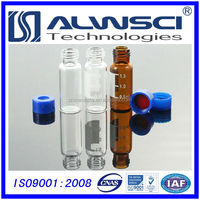1.5-2ml 9-425 screw thread glass autosampler vials with PP screw caps and PTFE/Silicone septa