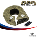 PQY - 100% Full TITANIUM T3 turbo blanket turbo heat shield fit : t2 t25 t28 gt28 gt30 gt35 and most t3 turbo PQY1303-2T/TBF03