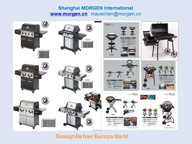 High Quality Stainless Steel Outdoor Rotisserie Gas BBQ Grill