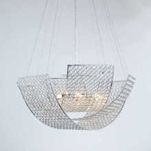 new products woven crystal bead fancy lighting pendant lamp for 2017
