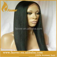 Best quality straight 100% human hair grey lace front wig