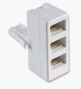 3 way phone splitter made in china connector